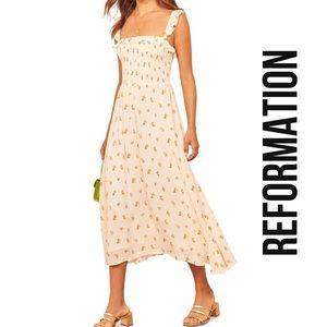 REFORMATION Siesta Midi Dress